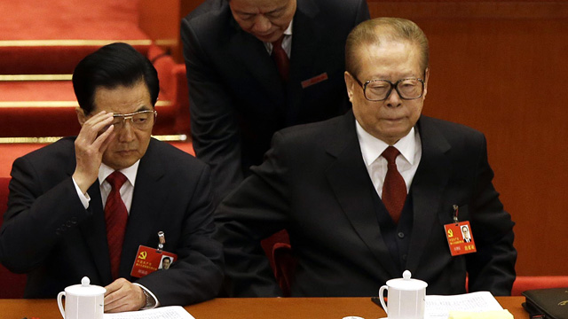 Jiang Zemin shitting himself