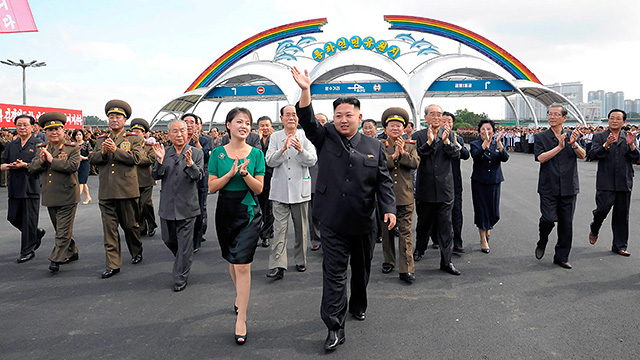 Kim Jong-un and Ri Sol-ju