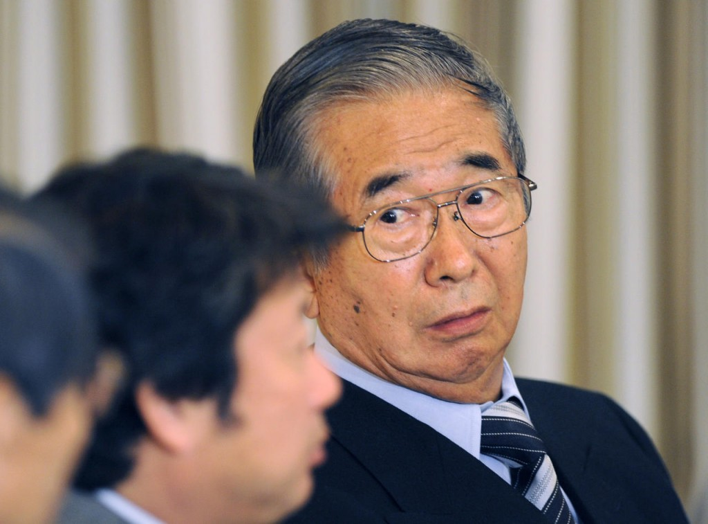 Former Tokyo mayor Shintao Ishihara, seen here trying to start World War III.