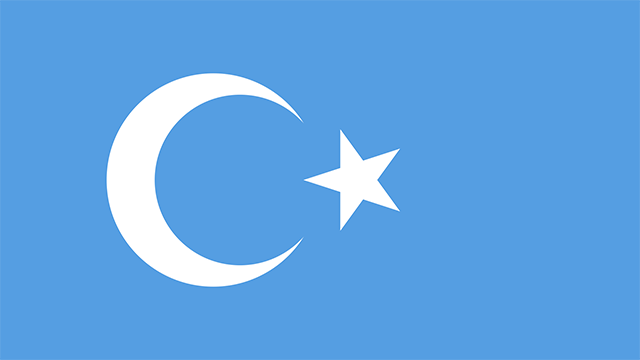 Flag of the Independent Islamic Republic of East Turkestan
