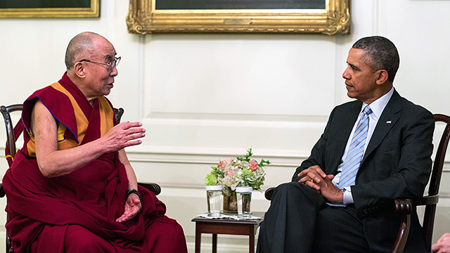 Barack Obama and the Dalai Lama